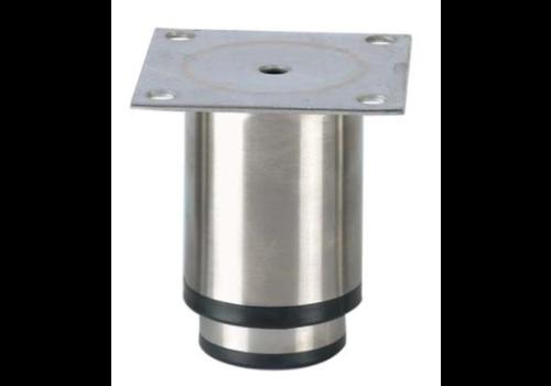 Pied reglable inox   90mmh   90x90mm