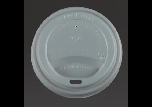 ProChef Couvercles compostables pour boissons chaudes, 34/45,5 cl, lot de 1000