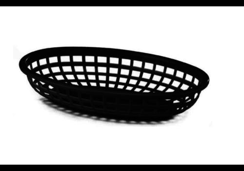 ProChef Panier Oval | Plastique | Noir | 230x155x(h)30mm