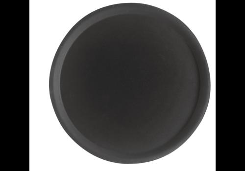 Cambro Plateau de service rond fibre de verre antidérapant Camtread noirs