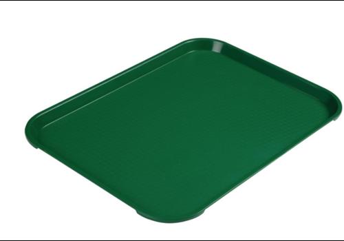 Cambro Plateau rectangulaire en polypropylène Fast Food vert | 41 cm