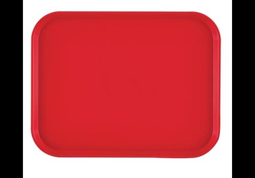 Cambro Plateau rectangulaire en polypropylène Fast Food rouge | 41 cm