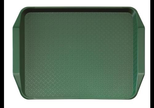 Cambro Plateau rectangulaire avec poignées en polypropylène Fast Food vert | 43 cm