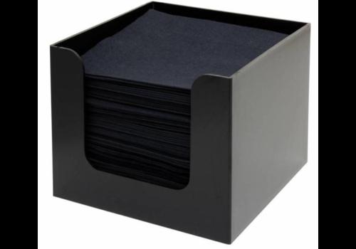 Bar Professional Porte-Serviettes | Noir | 135x135x(h)100mm