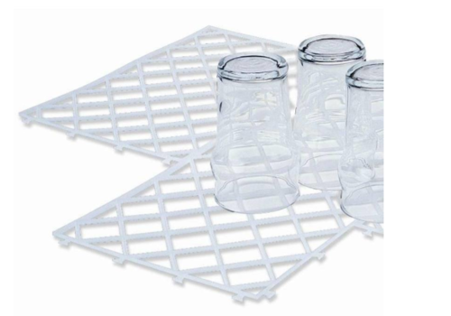 Bar Professional Tapis pour Verres | Assemblables | Transparent | 300x200mm | Lot de 10 Pièces