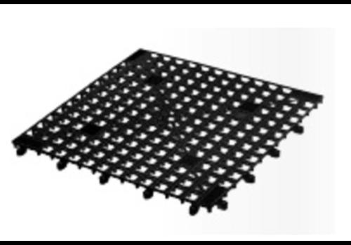 Bar Professional Tapis pour Verre | Assemblables | Noir | 330x330mm