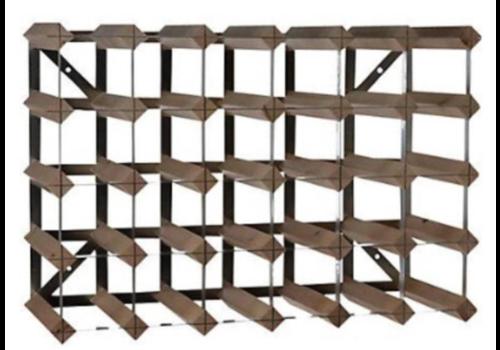 ProChef Casier à Vin | 30 Bouteilles | Bois / Métal | 612 x 228 x (h)420mm
