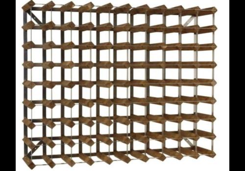 ProChef Casier à Vin | 90 Bouteilles | Bois / Métal | 820x240x(h)1000mm