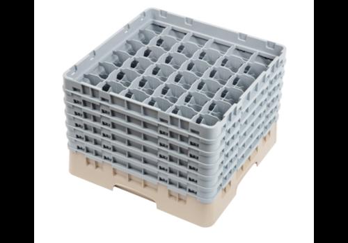 Cambro Casier à verres 36 compartiments Camrack beige | hauteur max 298mm