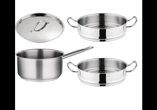 Vogue Ensemble 3 pièces |  casserole et paniers vapeur
