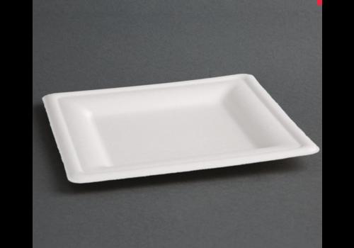 Assiettes carrées compostables | 159 (L) x 159 (P) mm | Par 50