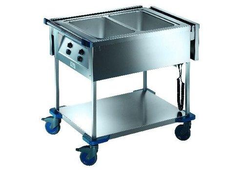 Blanco Chariot bain-marie gn 1/1 inox   230v   1,40 kW