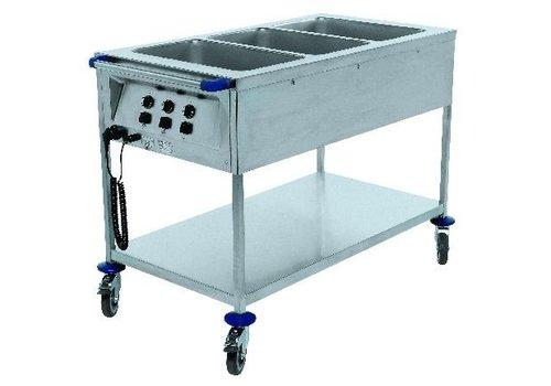 Blanco Chariot bain-marie gn 1/1 inox    230v    2,10 kW