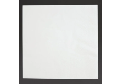 Serviettes snacking 2 plis pliage 1/4 | 330mm blanches | lot de 2000