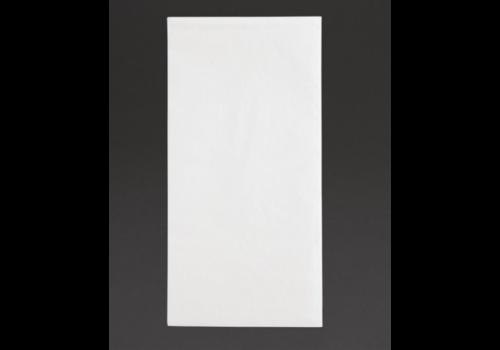 Serviettes dîner 2 plis format 1/8 | 400mm blanches | (lot de 2000)