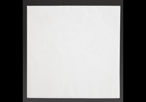 Serviettes dîner 3 plis format 1/4 | 400mm blanches | (lot de 1000)