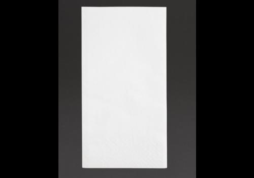 Serviettes snacking 2 plis pliage 1/8 |330mm blanches | (lot de 2000)