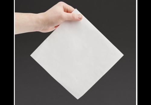 Serviettes dîner 2 plis format 1/4 | 400mm blanches | (lot de 2000)