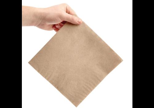 Serviettes dîner 2 plis format 1/4 | 400mm kraft | (lot de 2000)