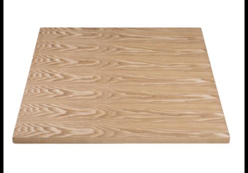 Bolero Plateau de table carré pré-percé coloris frêne naturel | 700mm