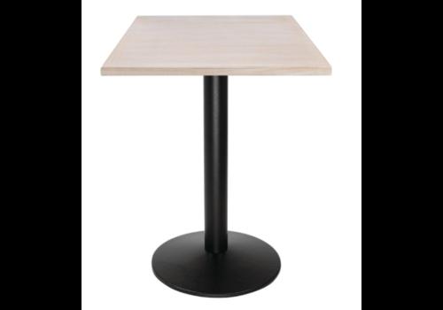 Bolero Plateau de table carré pré-percé vintage blanc | 700mm
