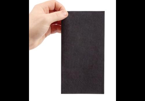 Serviettes dîner 2 plis format 1/8 | 400mm noires | (lot de 2000)