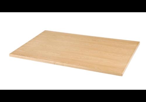 Bolero Plateau de table rectangulaire pré-percé coloris frêne naturel | 700 x 1100mm