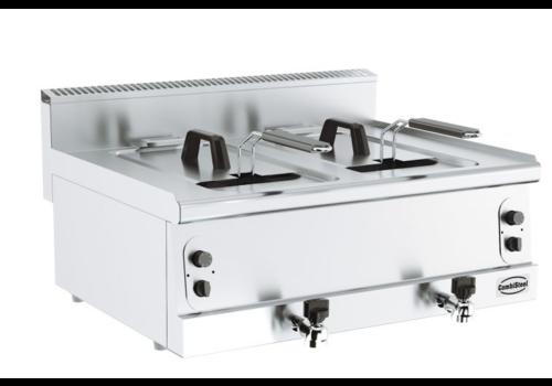 Combisteel Friteuse à gaz | 2x8L | Largeur 800mm