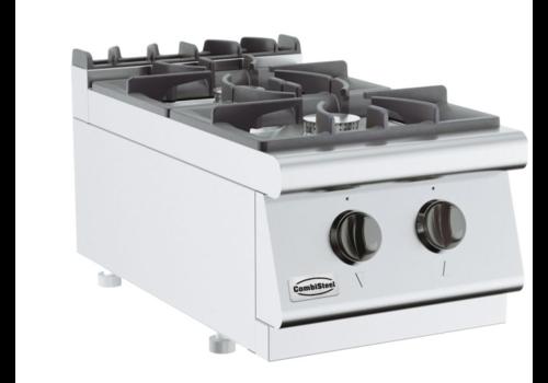 Combisteel Cuisinière à gaz 2 BR   Base 700    400x700x300mm