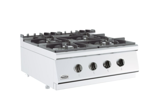 Combisteel Cuisinière à gaz 4 BR   Base  700   800x700x300 mm