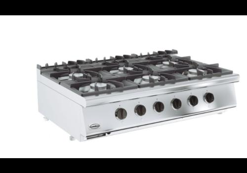 Combisteel Cuisinière à gaz 6 BR | Base 700 | 1200x700x300 mm