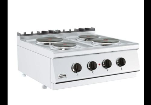 Combisteel Cuisinière électrique  4 PL   Base 700   800x700x300 mm