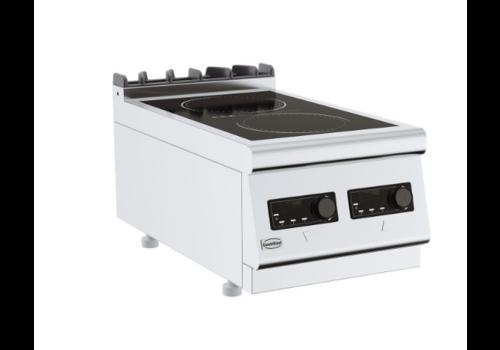 Combisteel Cuisinière électrique à induction 2 PL| Base 700 | 400x700x300mm