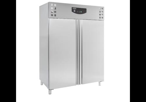 Combisteel Réfrigerateur en acier 2 portes | 2010x1480x830mm