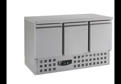Combisteel Table réfrigérée 3 portes | 1365x875x700mm