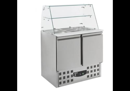 Combisteel Saladette réfrigérée  2 portes   900x1310x700 mm