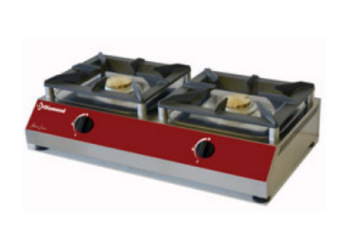 ProChef Réchaud de table gaz | 2 feux  | 760 x 400 x 200mm