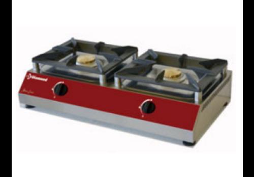 ProChef Réchaud de table gaz   2 feux    760 x 400 x 200mm