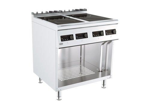 ProChef Cuisinière électrique à induction   4 plaques   4 x 2,6 kW  