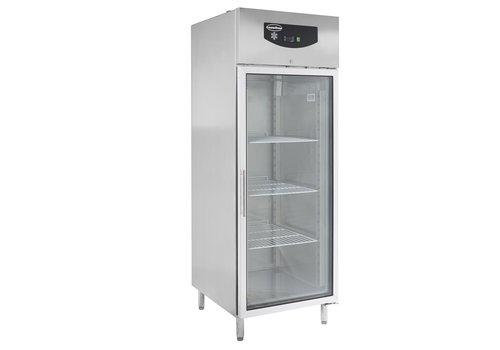 ProChef Réfrigérateur | 1 porte vitrée | acier inoxydable