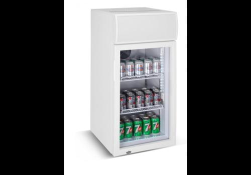 Combisteel Petite armoire vitrée réfrigérée | 80 litres