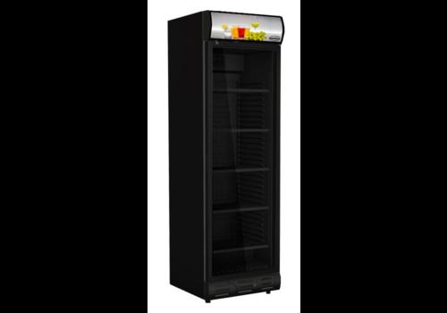 ProChef Réfrigérateur 1 porte en verre noir sens ouverture porte gauche
