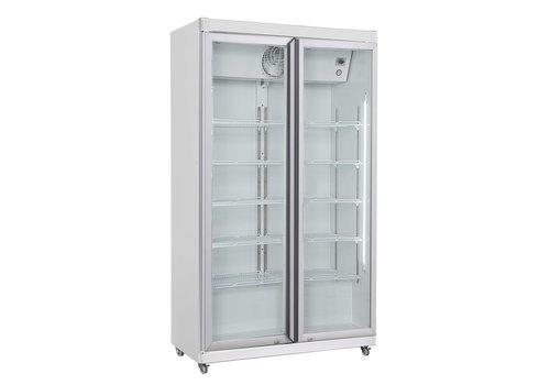 Combisteel Réfrgérateur 2 portes en verre |  1027x459x1755mm
