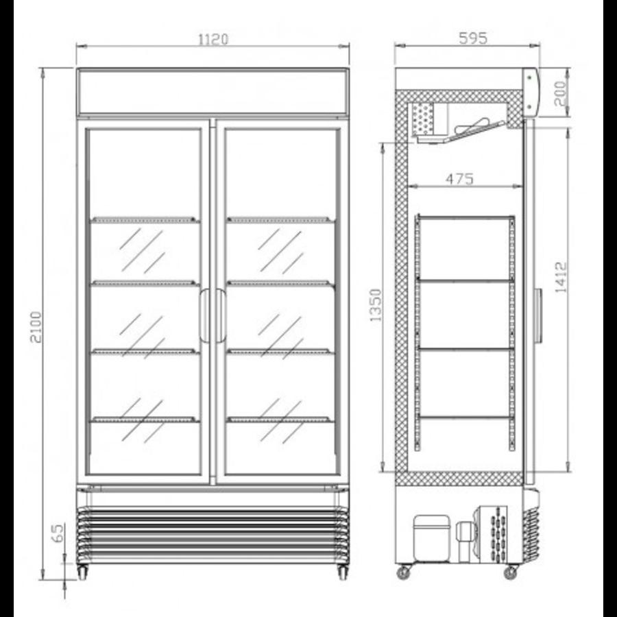 Armoire à Boisson 780 L   Portes Coulissantes