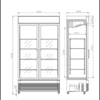 Armoire à Boisson Décorée 780 L | Portes Coulissantes