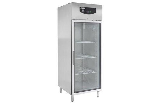 ProChef Réfrigérateur | 1 porte vitrée | acier inoxydable | Verrouillable