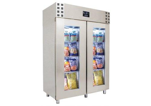ProChef Réfrigérateur | 2 portes vitrées | acier inoxydable | verrouillable