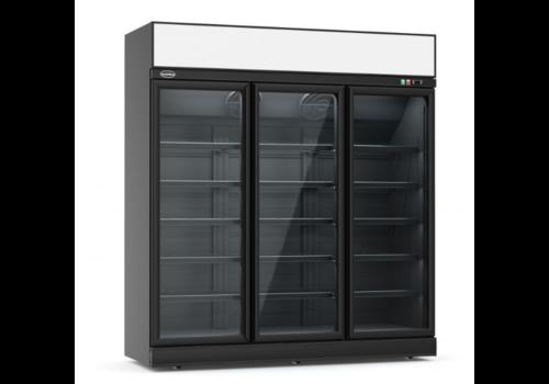 ProChef Réfrigérateur noir    3 portes en verre   1880x710x2092mm