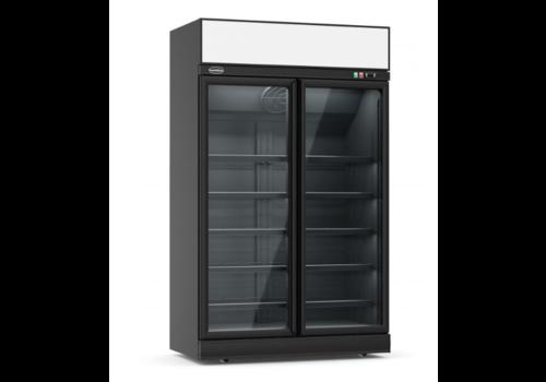 ProChef Congélateur  noir | 2 portes en verres | 1253x710x2092mm