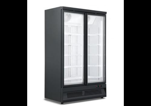 ProChef Réfrigerateur noir |  2 portes en verre  | 1253x710x1997mm